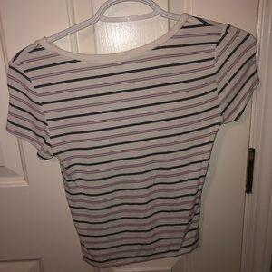 garage tshirt size small w/black and purple stripe